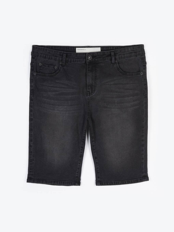 Černé denimové šortky