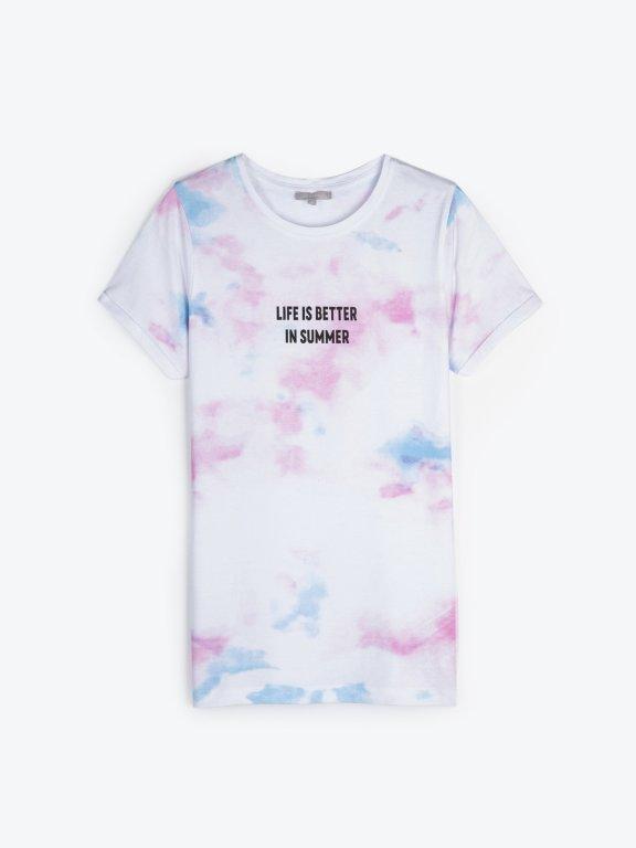 Tie dye t-shirt with print