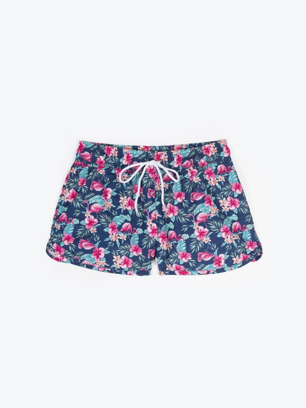 Printed shorts with pockets