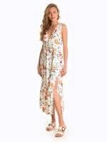 Maxi floral print dress