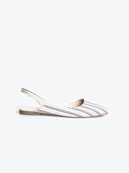 Flat slingback sandals