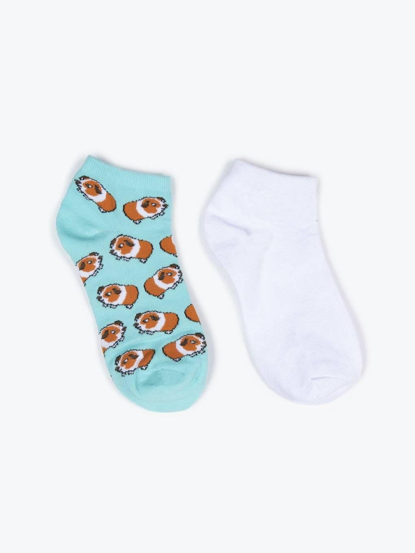 Sada dvou párů kotníkových ponožek