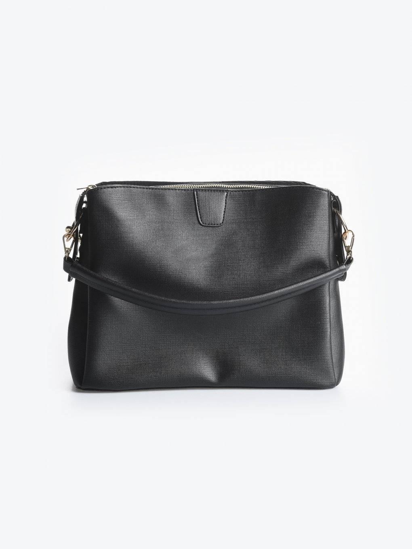 Faux leather city bag