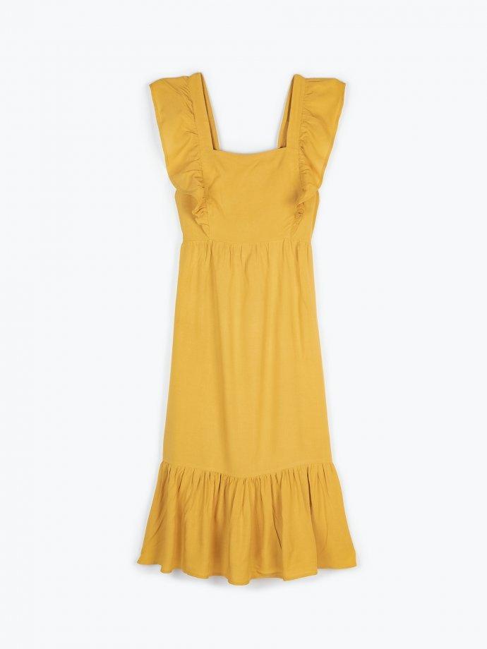 Dlhé šaty s volánom