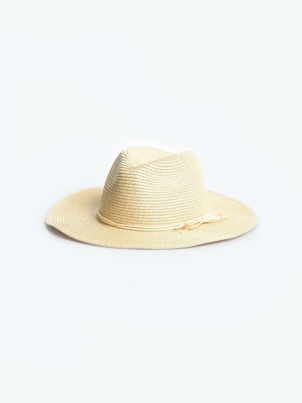 Panama hat with ribbon