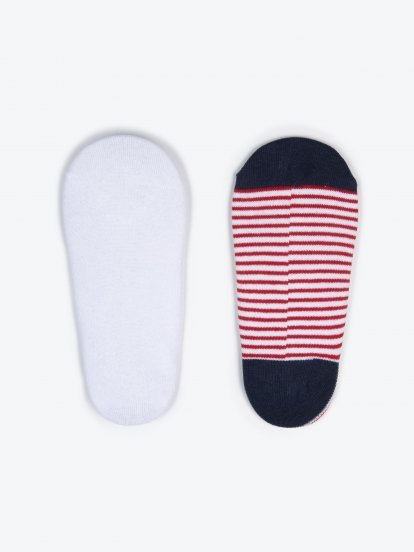 3 pack striped footies