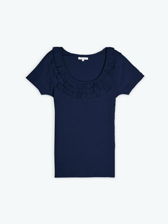 T-shirt with ruffles