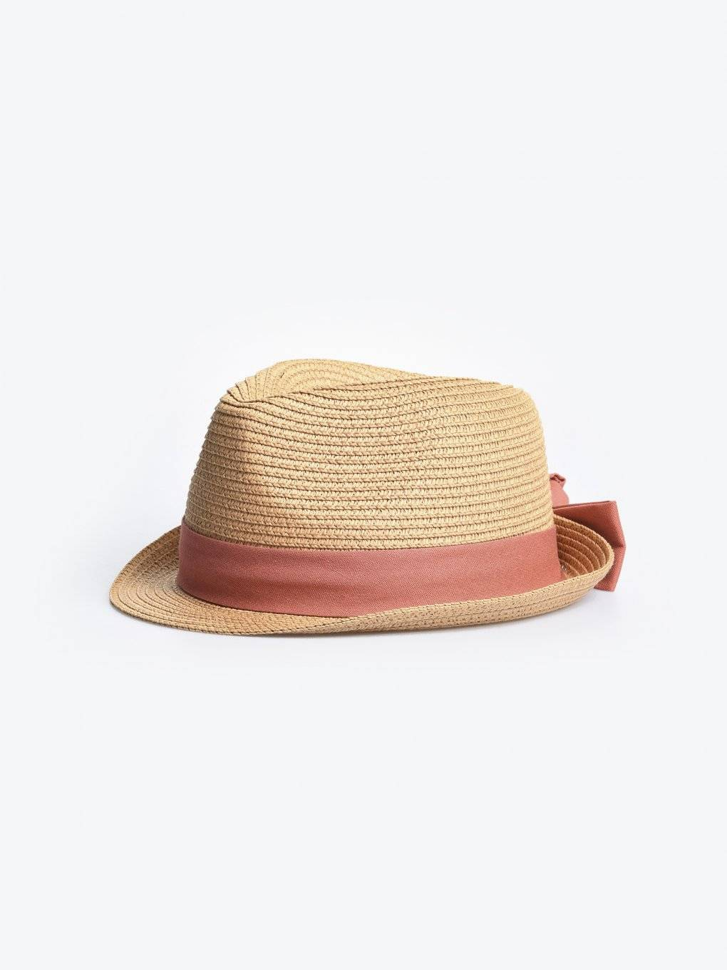 Fedora hat with ribbon