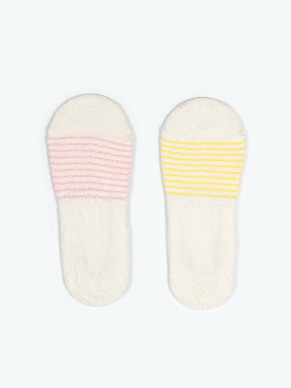 2-pack striped footies