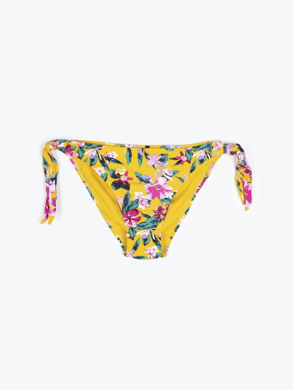 Floral print bikini bottom
