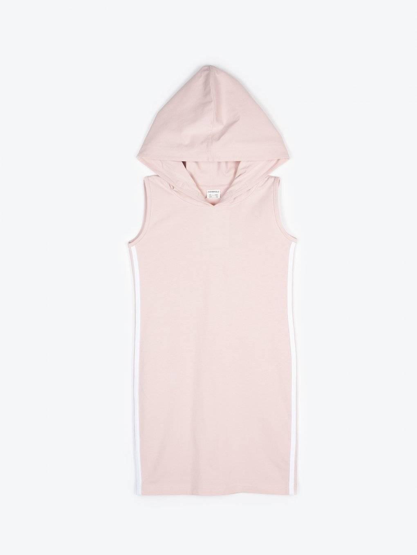 Mikinové šaty s bočním proužkem