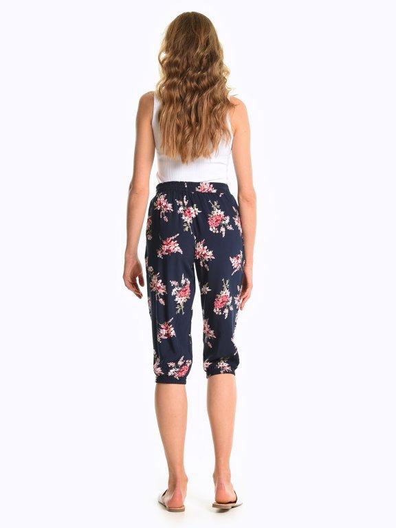 3/4 printed pallazo trousers