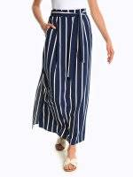 Maxi striped skirt with pockets