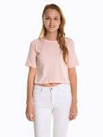 Basic cotton crop top