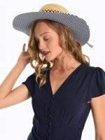 Pamela hat with striped brim