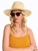 Panama hat with metallic fibre