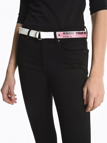 Textile belt with neon detail