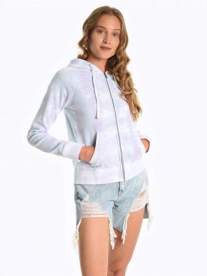 Tie dye zip-up hoodie