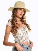 Panama hat with ribbon