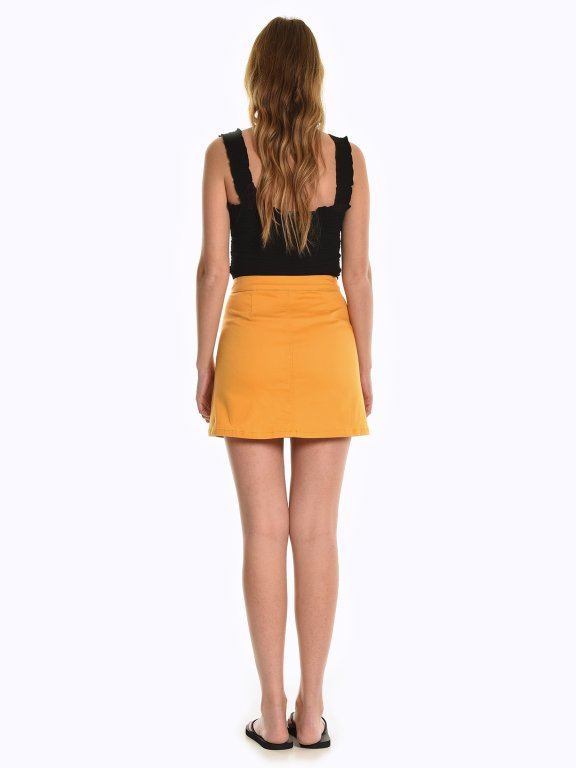 Button down a-line skirt