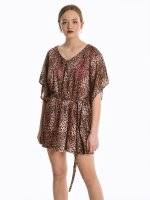 Animal print beach caftan
