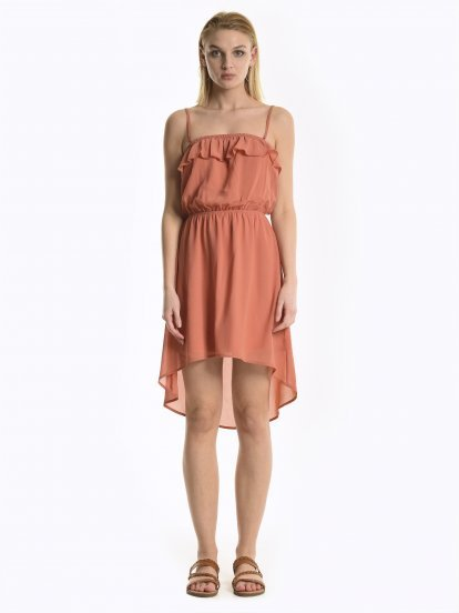 Dress with ruffle