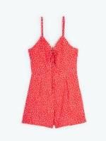 Foral print short jumpsuit