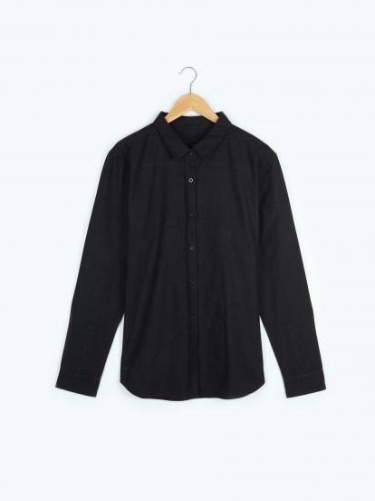 Basic cotton oxford slim fit shirt