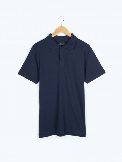 Basic pique polo shirt