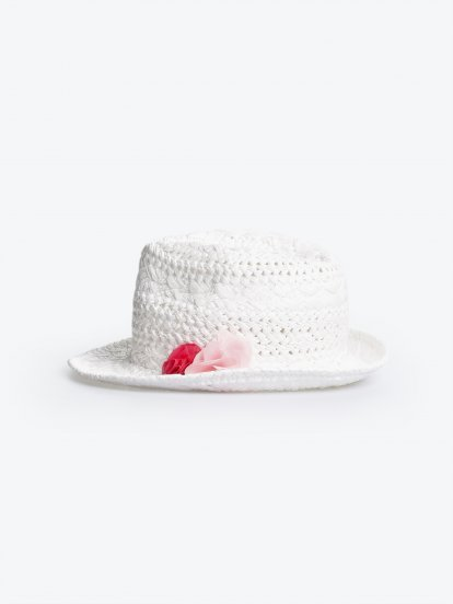 Fedora hat with flowers