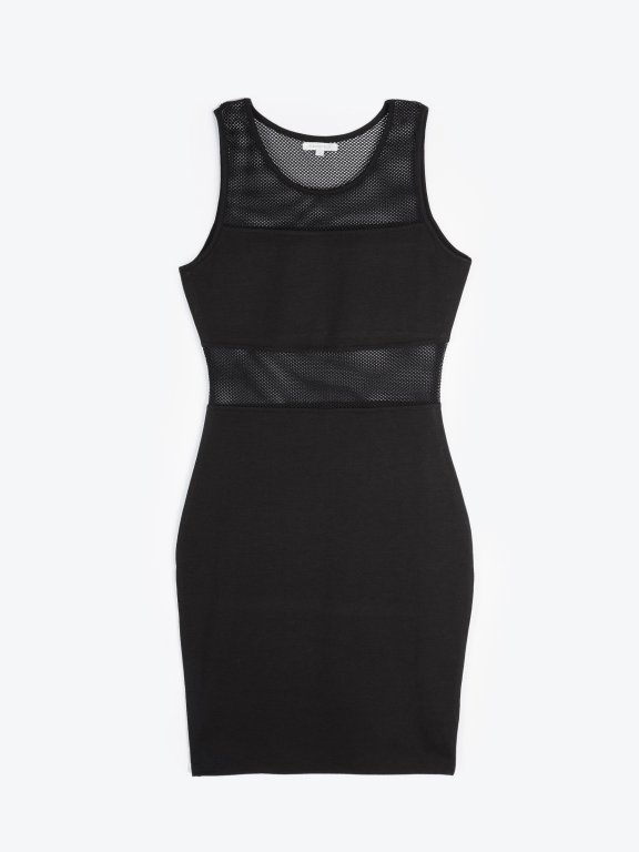 Combined bodycon mini dress