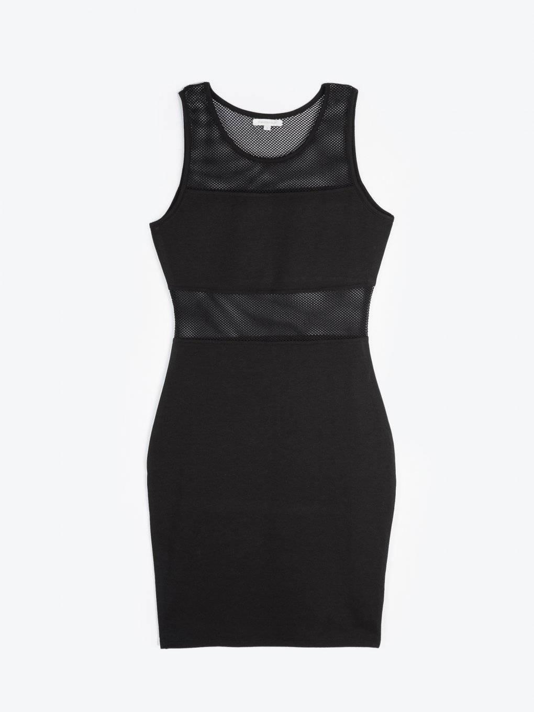 Combined bodycon mini dress