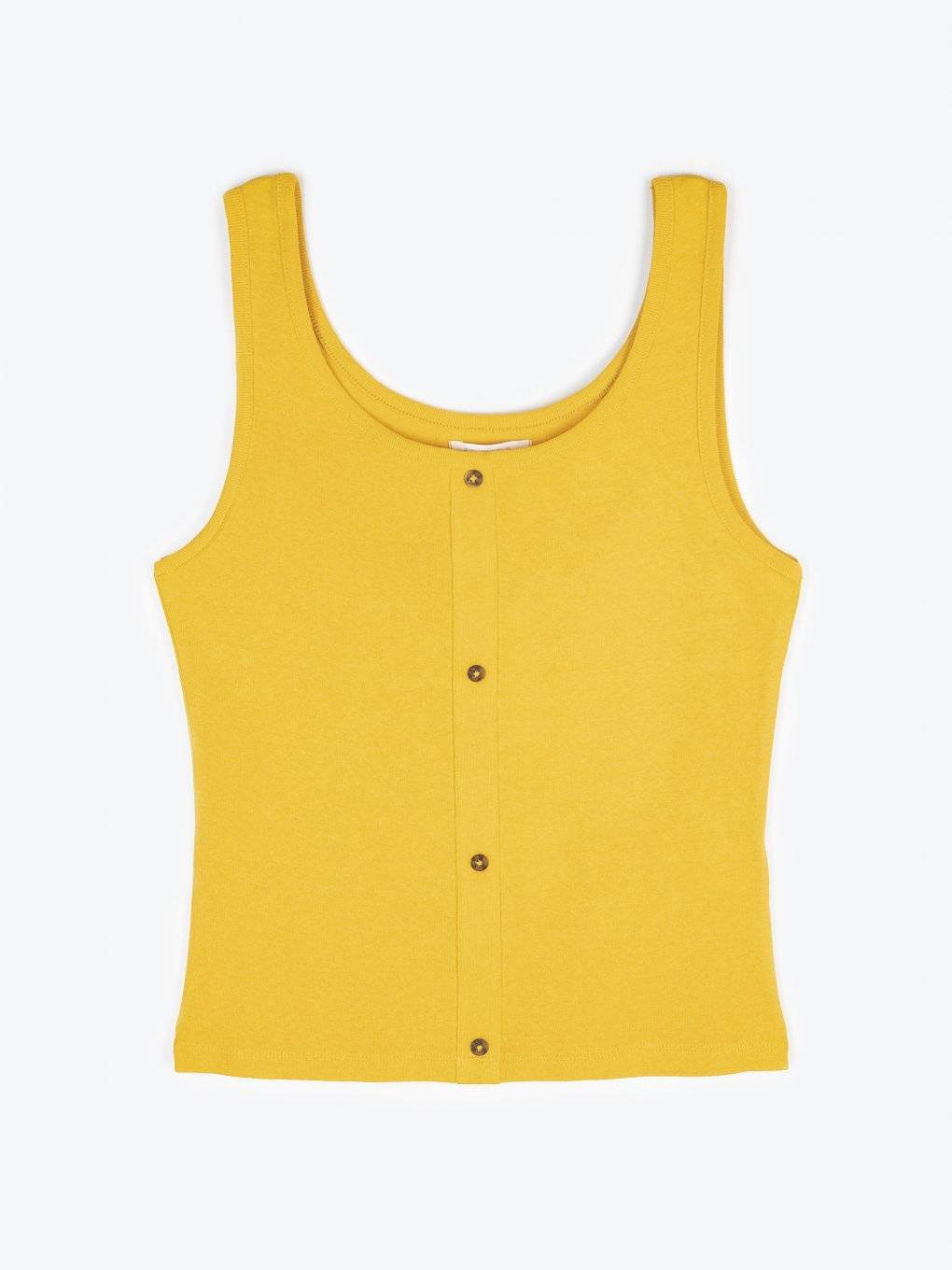 Button-up tank top
