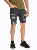 Denim shorts with damages