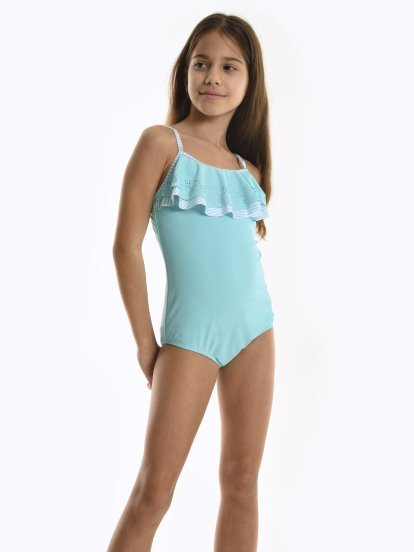 Swimsuit with ruffle