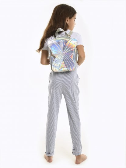 Holographic back pack with wings