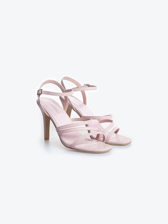 High heel strap sandals