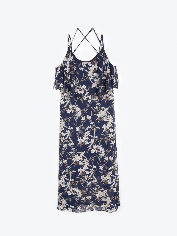 Długa sukienka szyfonowa