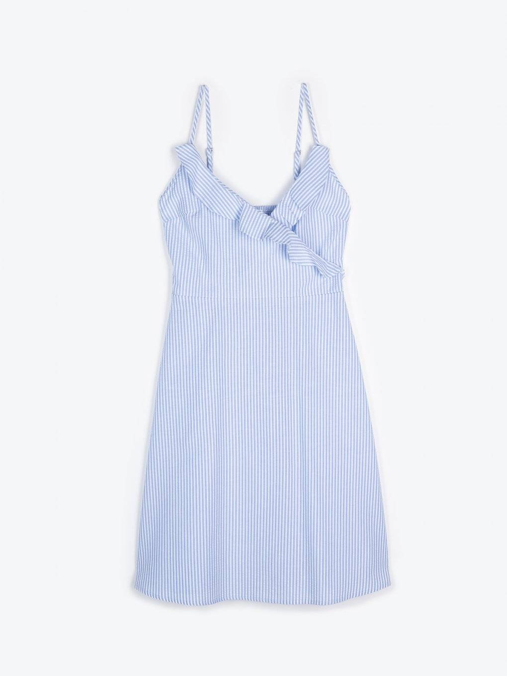Striped dress with ruffles