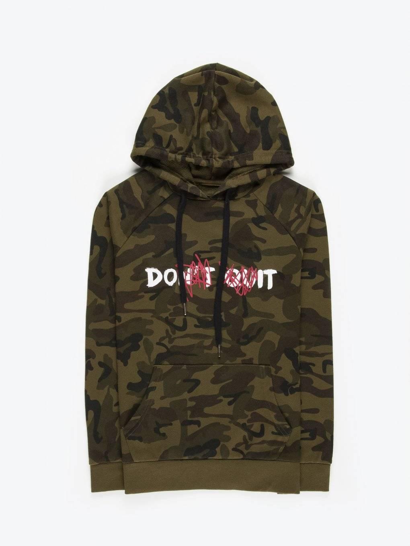 Camo printed hoodie