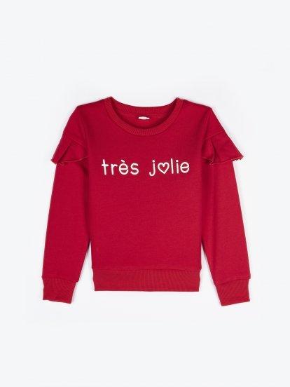 Sweatshirt with ruffle