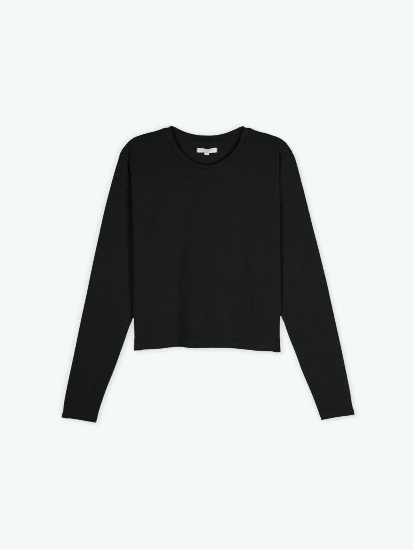 Loose fit long sleeve basic t-shirt