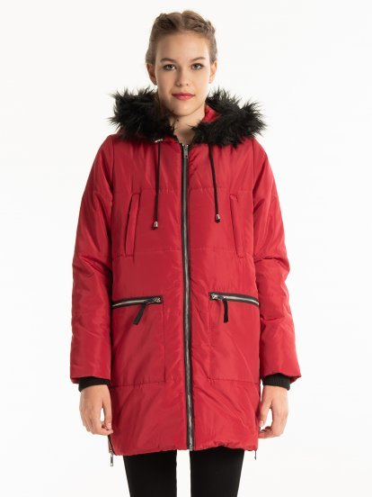 OVERSIZED PADDED JACKET WITH ZIPPERS