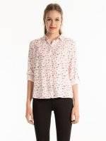 Viskózová košile s potiskem