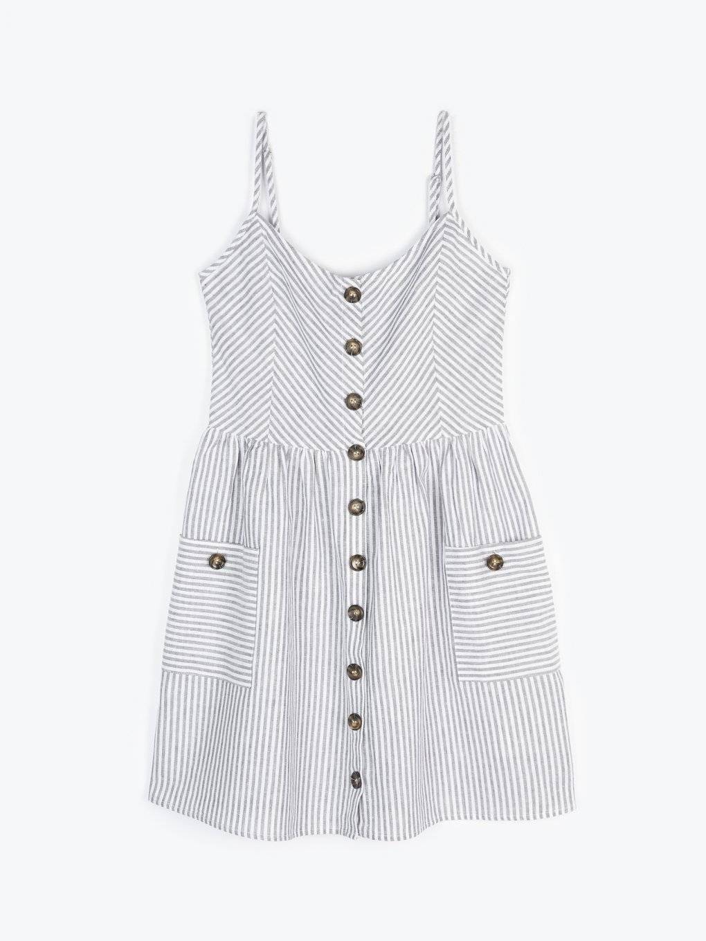 Button down dress with pockets