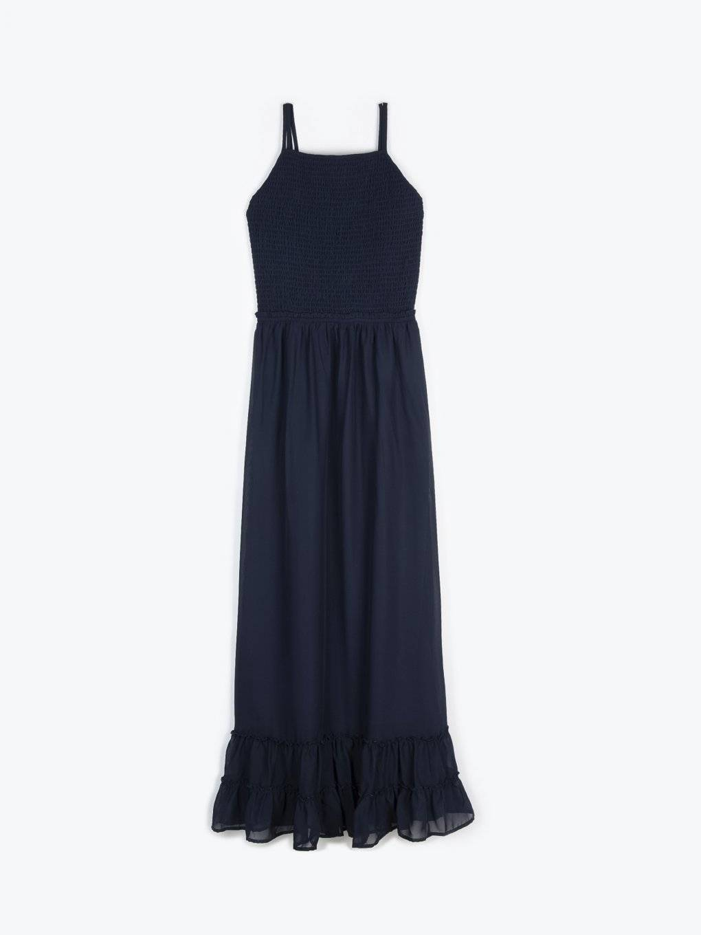 Chiffon dress with open back detail