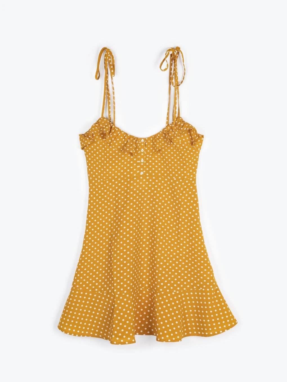 Bodkované šaty bez rukávov