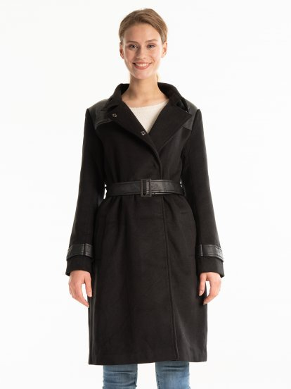 COMBINED DUSTER COAT WITH BELT