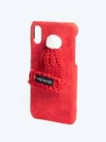 PHONE CASE WITH MINI BEANIE /I-PHONE 6,7,X/
