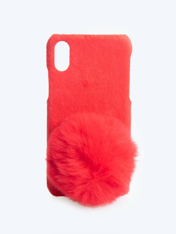 CHRISTMAS PHONE CASE WITH POM /I-PHONE 6,7,X/